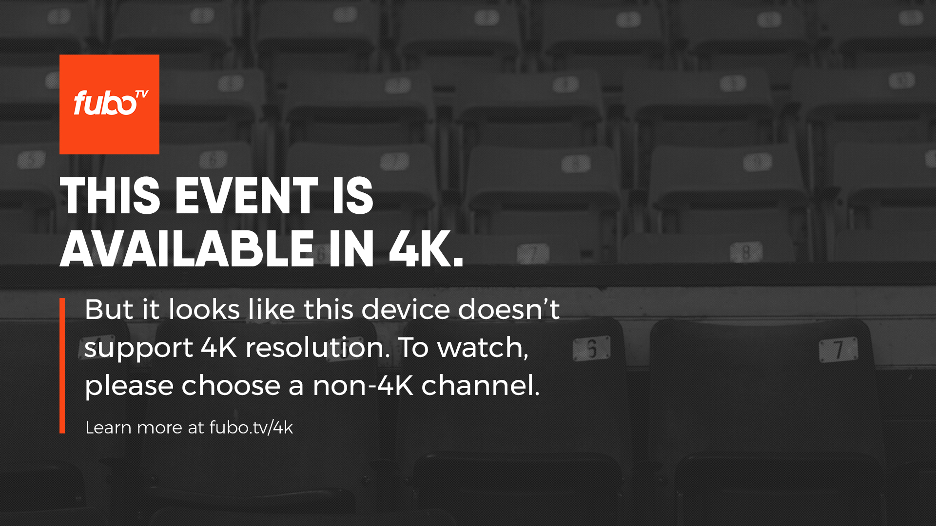 Does fuboTV offer any content in 4K/HDR? – Help Center